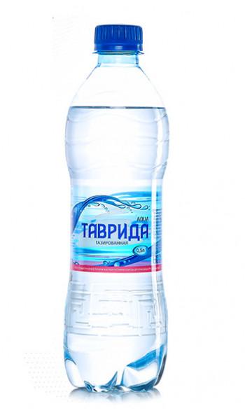 Артезианская вода  ТАВРИДА  газированная  (0,5л)